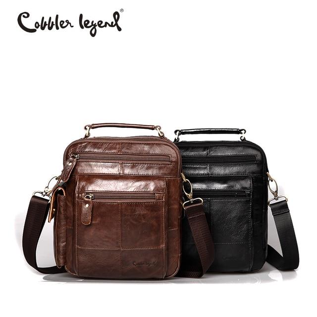 f79ca531dd10 Cobbler Legend Brand Designer Men s Shoulder Bags Genuine Leather Business  Bag 2018 New High Quality Handbags For Men 109171