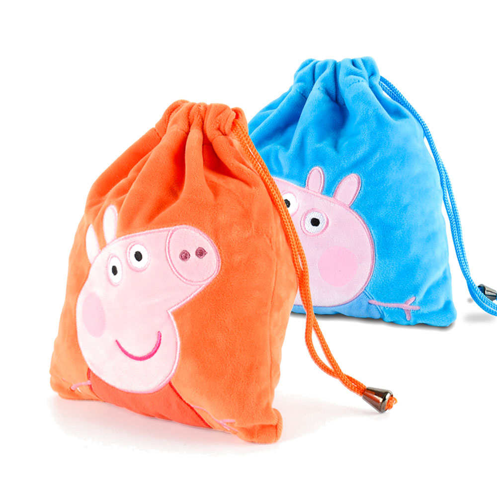 Original Peppa George Pig Plush Toys Kids Girls Boys Kawaii Kindergarten Bag  Backpack Wallet Money School Bag Phone Bag Dolls -in Movies   TV from Toys  ... 34e6b65c93cb5