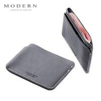 Modern Luxury Brand New 100 Cow Genuine Leather 0 38cm Super Slim Men Wallets Card Holder
