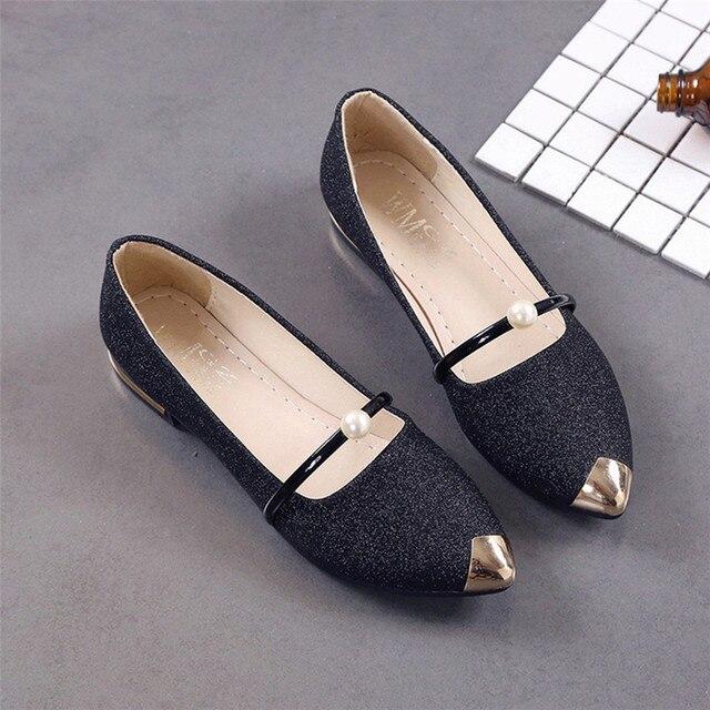 Women Pointed Toe Ladise Shoes Casual Low Heel Shoes Pumps Women Shoes chaussure femme talon schoenen vrouw scarpe donna T