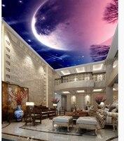 Home Decoration Fantasy Night Sky Meteor Ceiling 3d Ceiling Murals Wallpaper Sky Ceiling Wallpaper