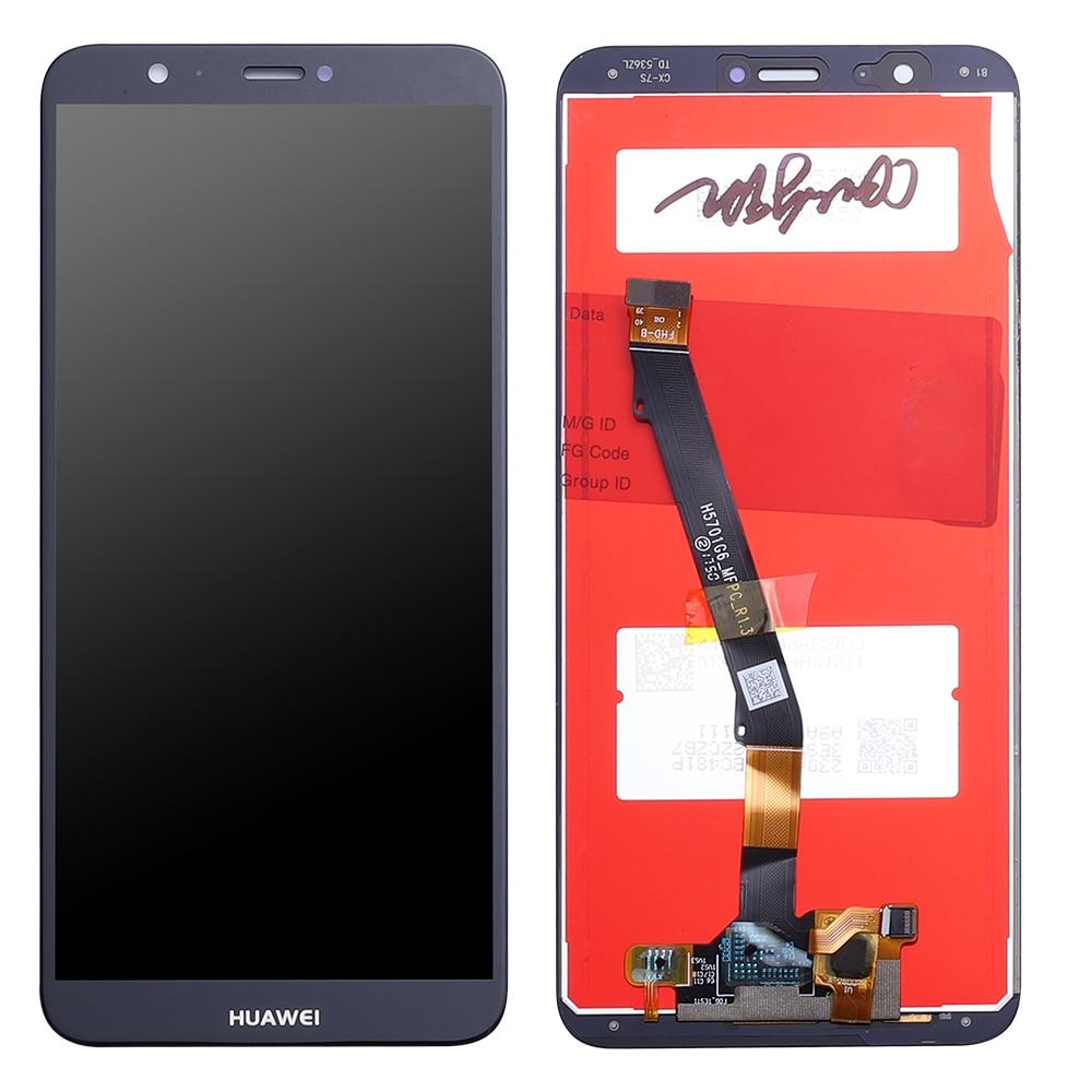 Для huawei P жидкокристаллический смарт дисплей Сенсорный экран дигитайзер в сборе для huawei P Smart ЖК дисплей с рамкой рис LX1 L21 L22 Экран-in ЖК-экраны для мобильного телефона from Мобильные телефоны и телекоммуникации