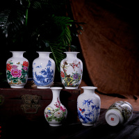 Free shipping modern porcelain vases colorful decoration jingdezhen ceramic flower vases