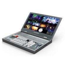 Черный Портативный 6 канала мульти-формат видео коммутатор SDI HDMI видео микшер с 1080p запись