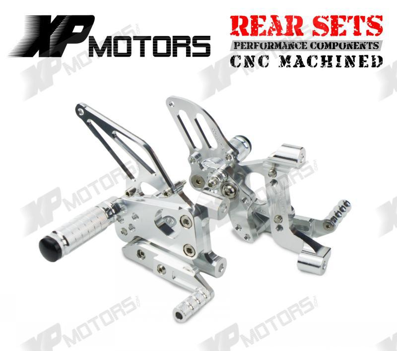New Silver CNC Racing Adjustable Rearset Footrest Rear Sets Foot pegs For Ducati 1199 Panigale S 2012 2013 2014 1set motorcycle rearset foot pegs footrest rear set for ducati 848 1098 1098s 1098r 1198 titanium wholesale d10