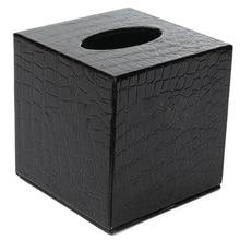 IALJ Топ прочный номер автомобиля из искусственной кожи квадратная коробка для салфеток бумажный держатель чехол Обложка для салфеток Цвет: черный узор под крокодила