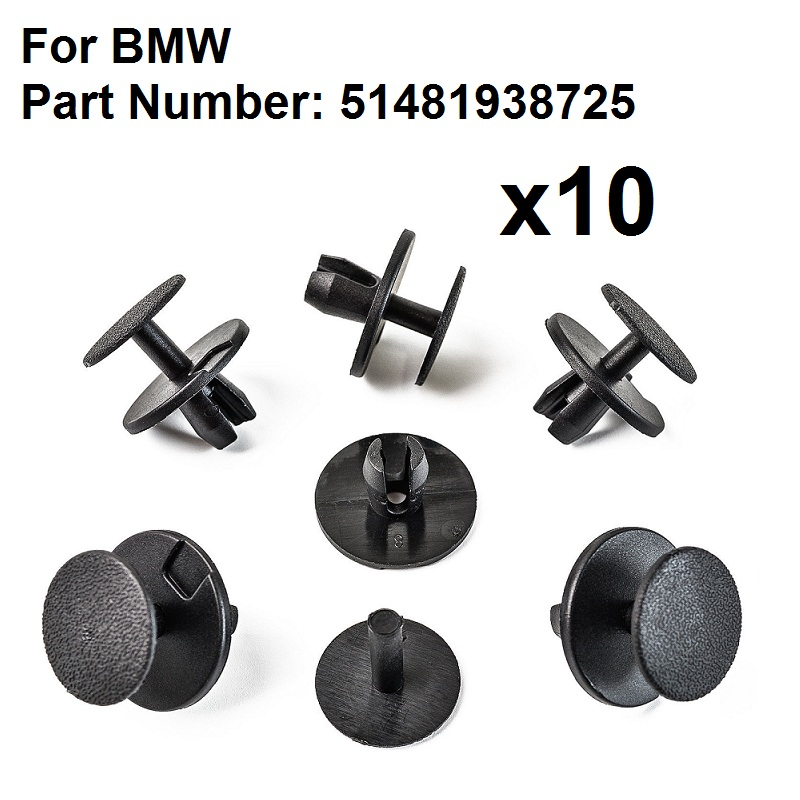 20x Grey for BMW Bonnet Bumper Lining Hood Sound Insulation Screw-fit Trim Clips