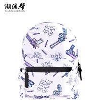 CHAOLIUBANG mini backpack women gun and letters printing backpacks Korean style white travel daypack kids book rucksack galaxia