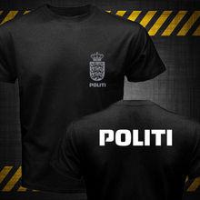2019 Fashion Double Side New Dansk Danish Denmark Politi Police Unit Logo T-Shirt Unisex Tee 2019 fashion double side new japan ninja bujinkan ninjutsu budo taijutsu kanji logo symbol t shirt unisex tee