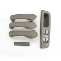 TAIHONGYU Grey Interior Door Grab Handle Cover Switch Bezel Set for VW Jetta Golf MK4 1J0 867 171A 1J4 867 179A 1J0 867 172A