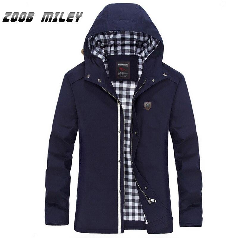 Zoob Майли куртка с капюшоном Для мужчин хлопок теплый Военная Униформа Пальто для будущих мам сплошной плюс Размеры M-5XL с длинным рукавом Пов...