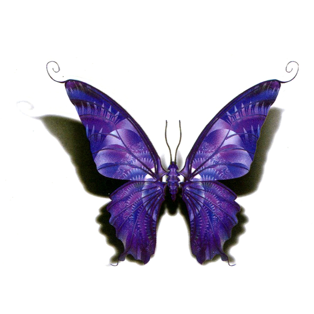 31256d920c182 Purple Butterfly Waterproof Temporary Tattoos Men Fake Tattoo The Flash  Beauty Animals Tatuajes Tatoos Temporarles For