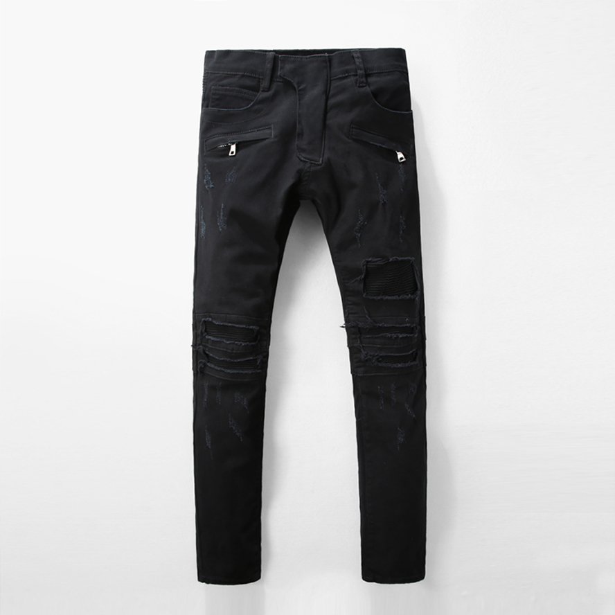 ФОТО New Arrival Famous Brand Jeans For Men Jeans Straigh Regular Fit Denim Jeans Pants Classic black Colour Size 29 To 40