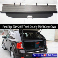 Car Rear Trunk Security Shield Cargo Cover For Ford Edge 2009 2016 Electric Switch Tail Gate SHELF SHADE TRUNK RETRACTABLE