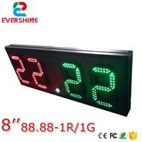 Digital Scoreboard Clock Scoreboard 8 Inch Red Green Scoreboard 800x305x75mm For Basketball Table Tennis Match Sign