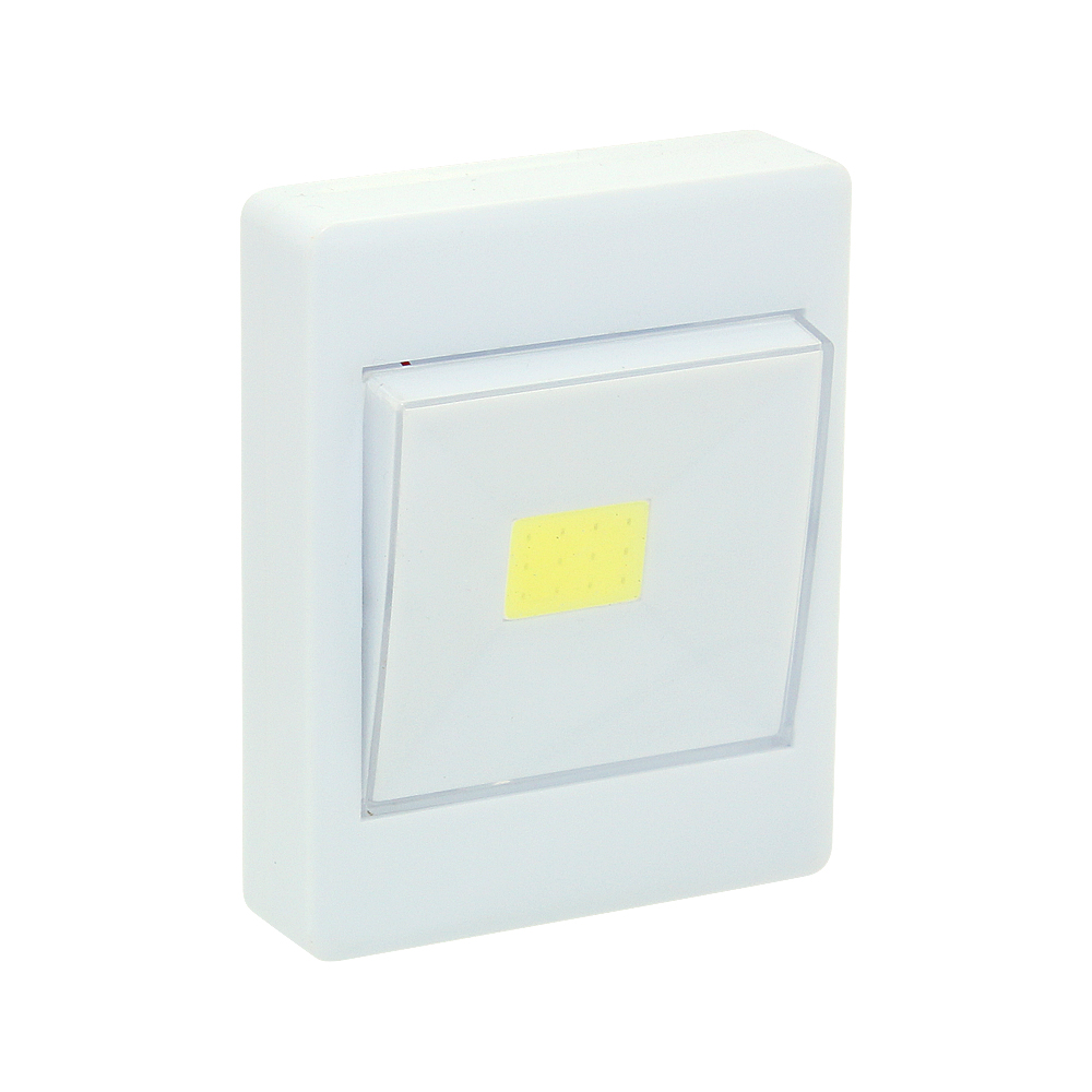 2W COB LED Light Switch Super Bright Portable Night Lamp Battery Powered No Wire