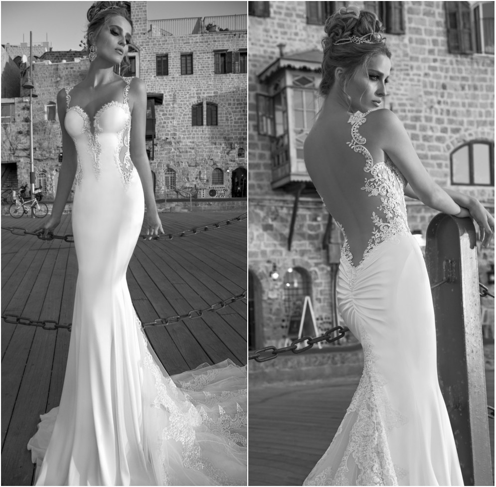 2015 Galia Lahav Vintage Mermaid Wedding Dresses Lace