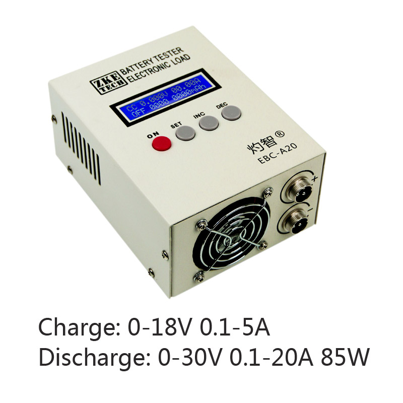 Lithium Battery Capacity Tester Fe Battery Tester Charge 5A Dischage 20A 85W Cyclic Electronic load Online