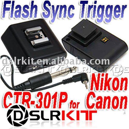 Беспроводная Вспышка Триггера установить CTR-301 P CTR-301P Для Canon Nikon с PC Sync