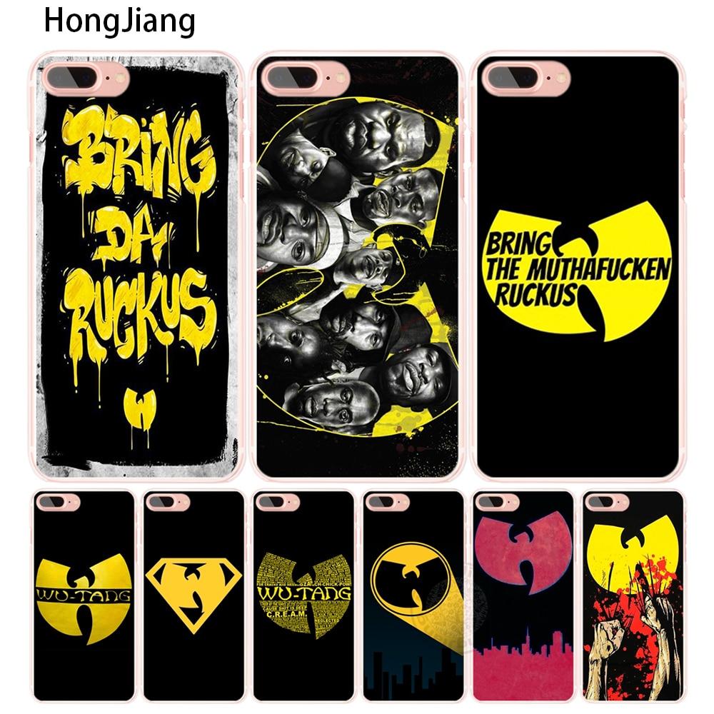 Hongjiang Wu Tang Clan хип-хоп рэп-группа сотового телефона чехол для iPhone 4 4S 5 5S SE 5C 6 6 S 7 8 X Plus