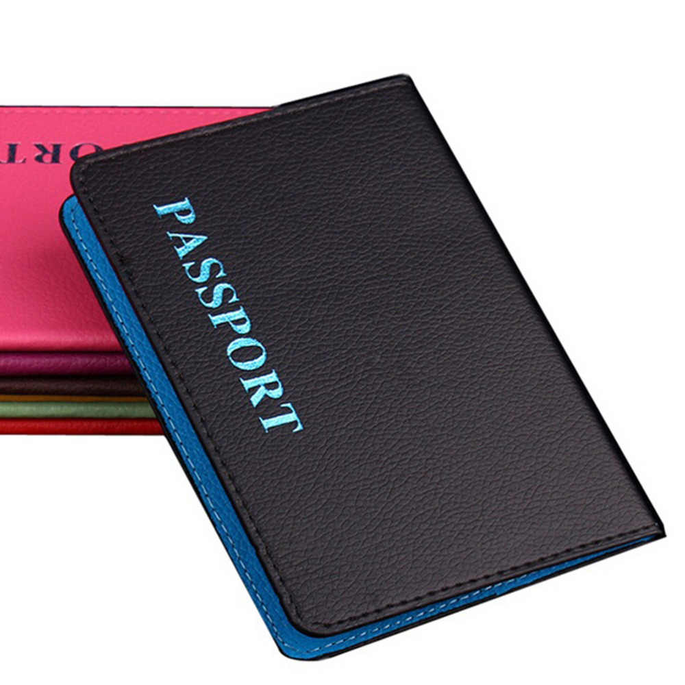 1pc Travel Passport Holder Card Cover on the Case for Women's Men travel porta paspoort