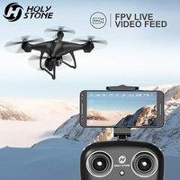 Святой камень HS100 Дрон с GPS, Wi Fi, Камера в режиме реального времени с видом от первого лица Квадрокоптер 1080 P Широкий формат hd камера Дрон 4CH Рад