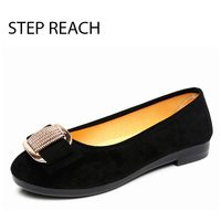 New 2017 Spring Summer Women Low Heels Shoes Pointed Toe Brand Fashion Womens Pumps Ladies Plus