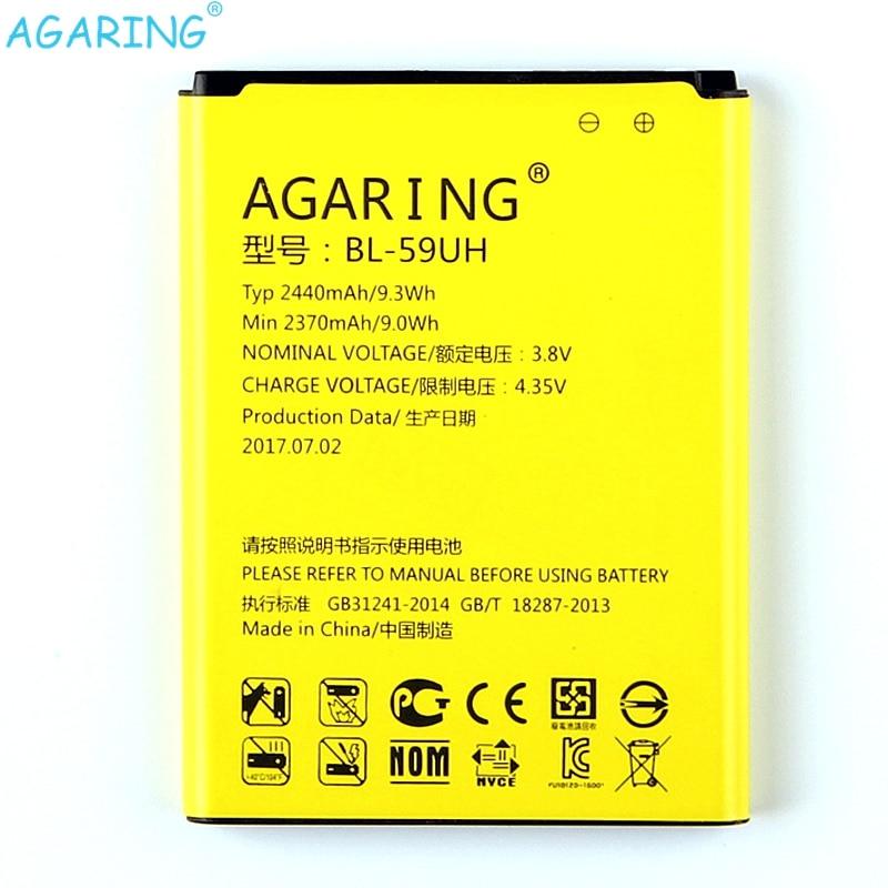 Original Replacement <font><b>Battery</b></font> BL-59UH For <font><b>LG</b></font> G2MINI D620 <font><b>D410</b></font> L65 D285 <font><b>LG</b></font> BL-59UH BL59UH Authentic Phone <font><b>Batteries</b></font> 2440mAh