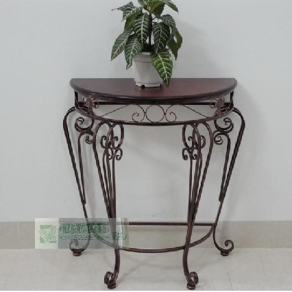 wrought iron console table table side table a few halfround table continental entrance cabinet