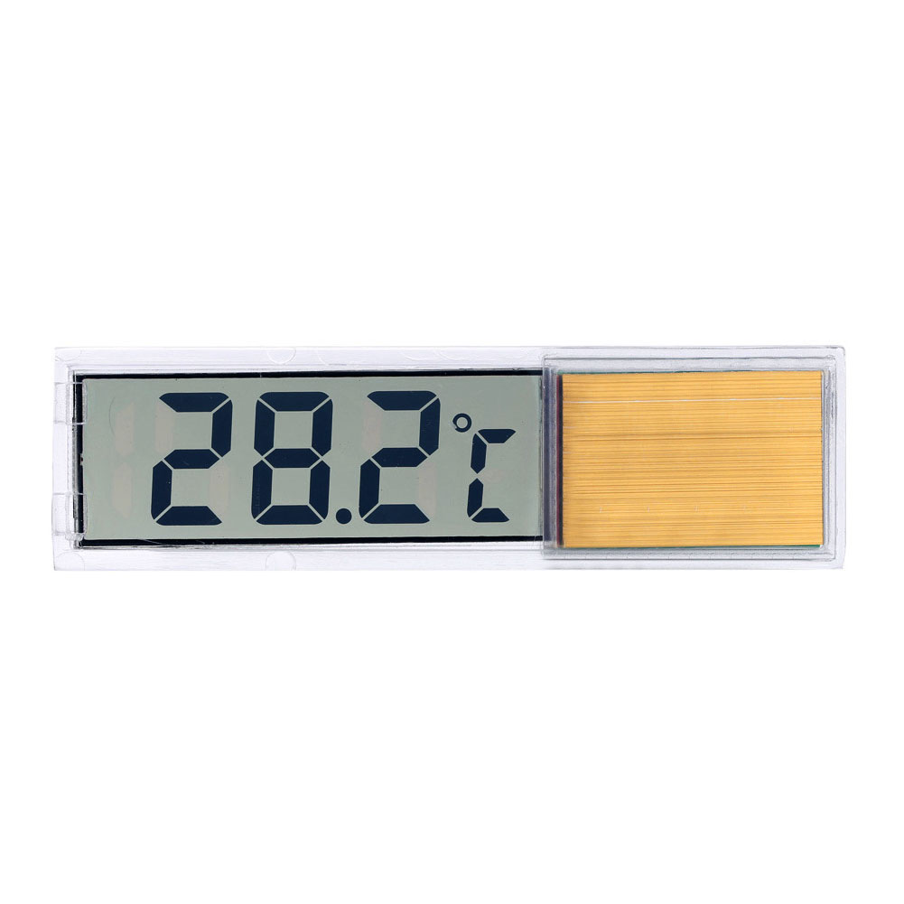 Size Gold Silver Plastic Metal 3D Digital Electronic Aquarium Thermometer Fish Tank Temp Meter Indoor Outdoor Thermometer