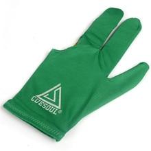 CUESOUL 10pcs/set 3 Finger Billiards Gloves Pool Cue Gloves Green Color