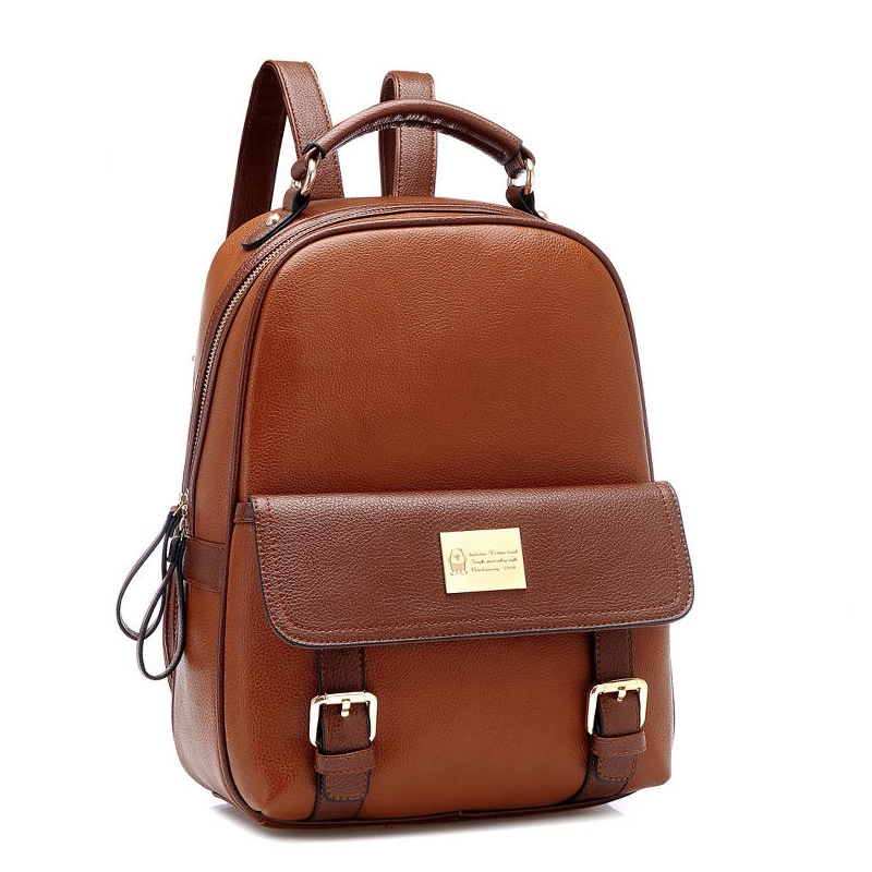 Women Bag PU Leather Korean Style Ladies Laptop Bag Daily Backpack Teenage Student Schoolbag Travel Small Backpack Girls Mochila dy0606 ladies bag 15inch women backpack suit for 14 15 notebook laptop bag student school bag travel mountaineering bag