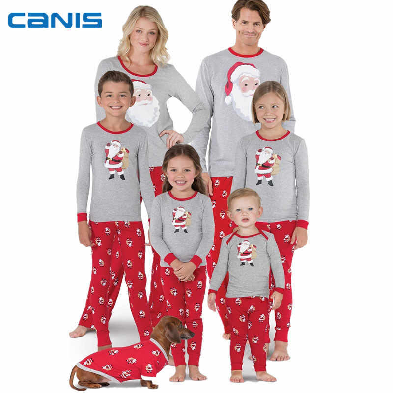 7c6326ad64 2018 Brand New Christmas Family Matching Xmas Pajamas Set Adult Men Women  Kid Sleepwear Santa Claus