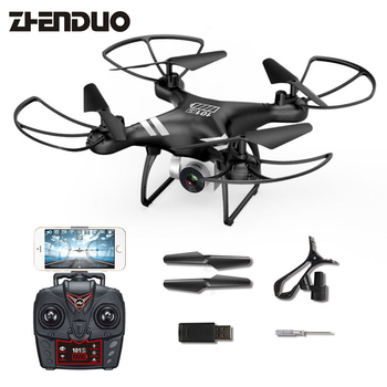 ZhenDuo Toys KY101S Long Action Time Quadcopter Wifi FPV With 300W Camera RC Helicopter VR Real-time Transmission Aircraft Drone Квадрокоптер