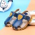 Детские сандалии 2016 новая мода детские сандалии мальчика кожа Баотоу сандалии повседневная обувь