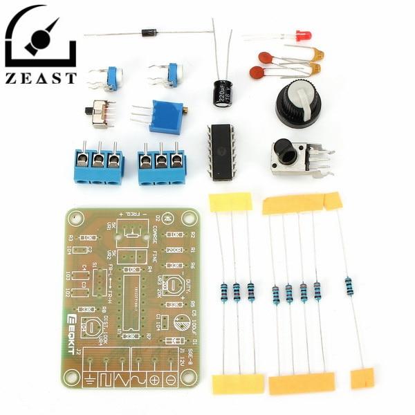 ICL8038 DC12 Monolithic Function Signal Generator Module DIY Kit Sine Triangle Square Wave Signal 20pf 105 1uf 50v 18valuesx10pcs 180pcs mono monolithic capacitors monolithic ceramic capacitor assortment kit