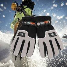 1 пара зимних спортивных перчаток, флисовые лыжные перчатки, теплые ветрозащитные мужские перчатки для езды на мотоцикле, сноуборде, лыжах