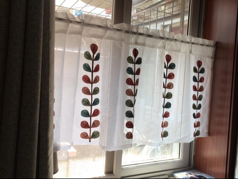 Misura Piccola tenda caffè per la cucina mezza finestra mantovana ...