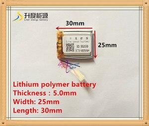 Image 1 - (משלוח חינם) 3.7 V 502530 400 mah ליתיום יון פולימר סוללה באיכות מוצרים באיכות של CE FCC ROHS הסמכת סמכות