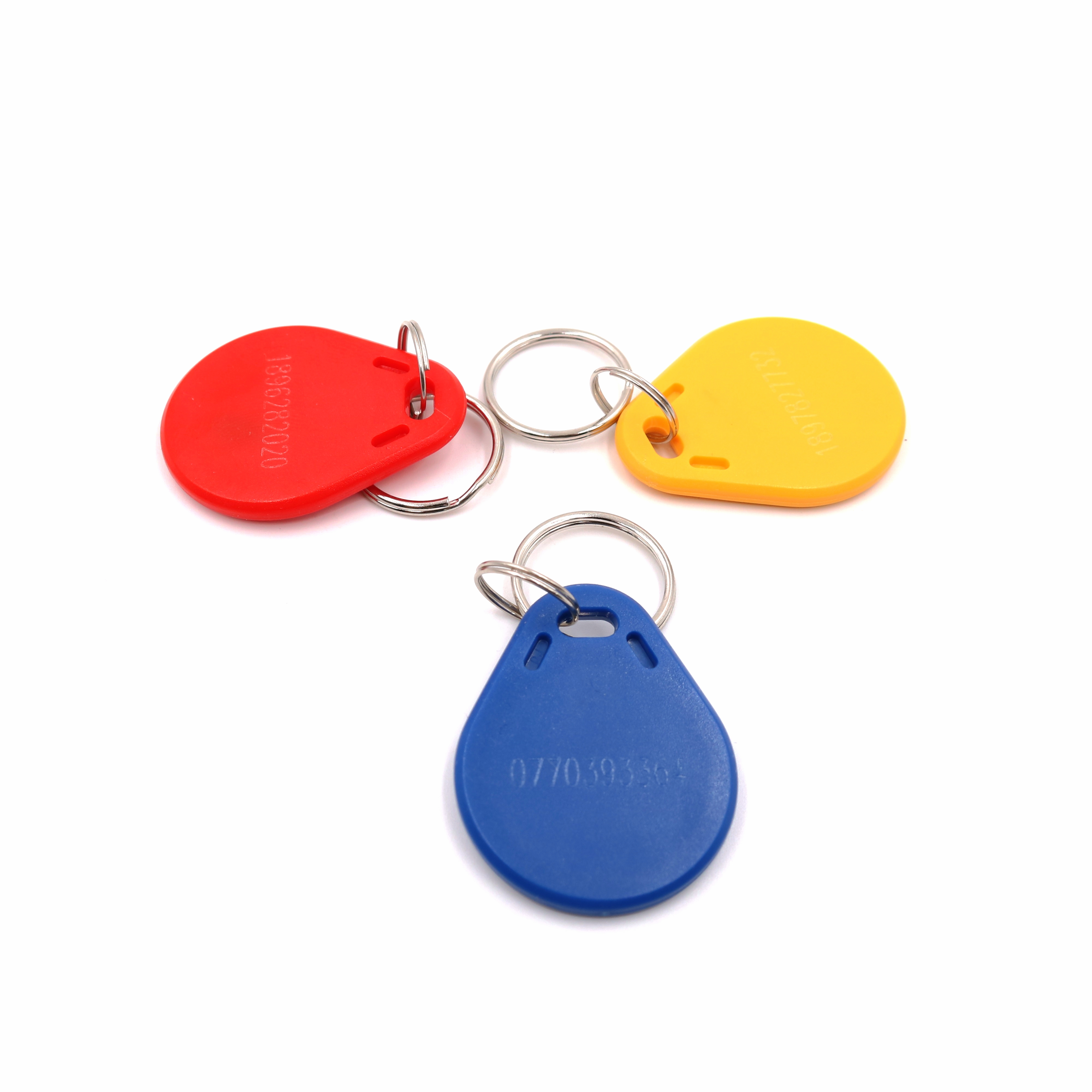 IC 13.56mHZ F1108 Chip S50 MF1 PVC Keyfob Tag Engraved code 8H10D UID ISO14443A Keychains s50 ic card 13 56mhz 1024bit 14443a ic tag sticker 1k m1 f1108 mf1