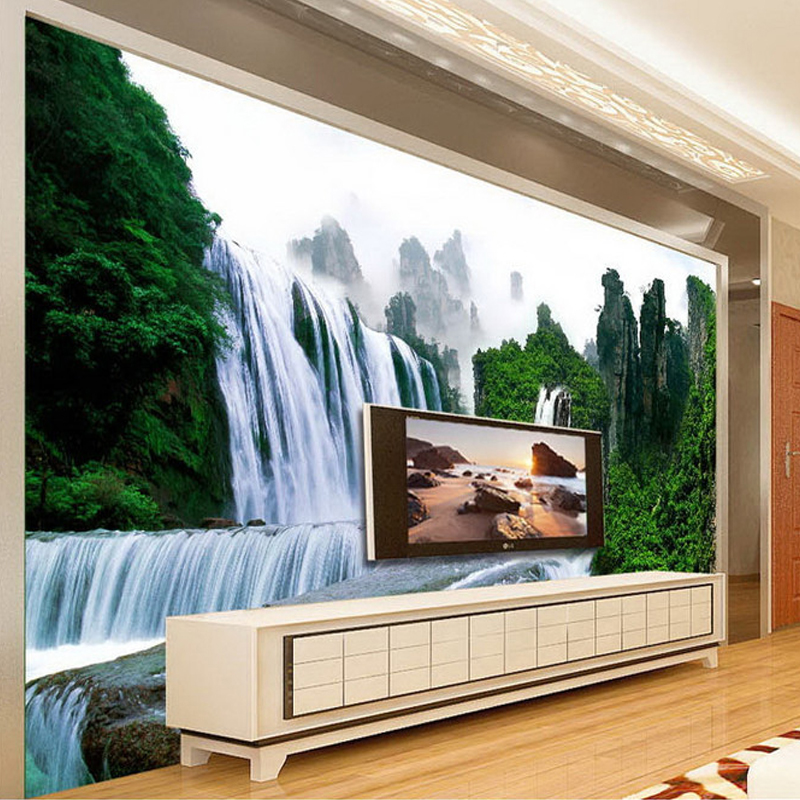 Custom Photo Wallpaper 3D Mountain Water Scenery Waterfall Mural Bedroom Living Room Sofa TV Background Wall Decoration Painting