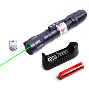 Portable Green Lasers Aluminum alloy Hunting Powerful 532nm Laser Bore Sighter with Star Cap For 18650 battery