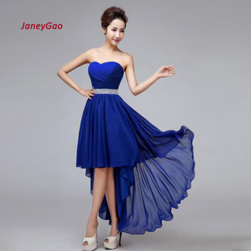 2019 New Arrival   Bridesmaid     Dresses   For Wedding Party Red Elegant Fashion Women Formal   Dress   Sweetheart Pleat Low High In Stock