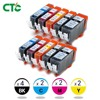 10x INK CARTRIDGE PGI 525 CLI 526 For CANON PIXMA IP4850 IP4950 MG5150 MG5250 MG5350 MG6150