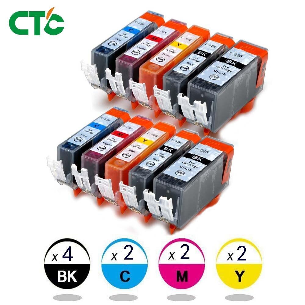 10x INK CARTRIDGE PGI-525 CLI-526 For CANON PIXMA IP4850 IP4950 MG5150 MG5250 MG5350 MG6150 MG6220 MG6250 MG8150 MG8220 MG8250 картридж revcol pgi 525 cli 526 для canon mg8150