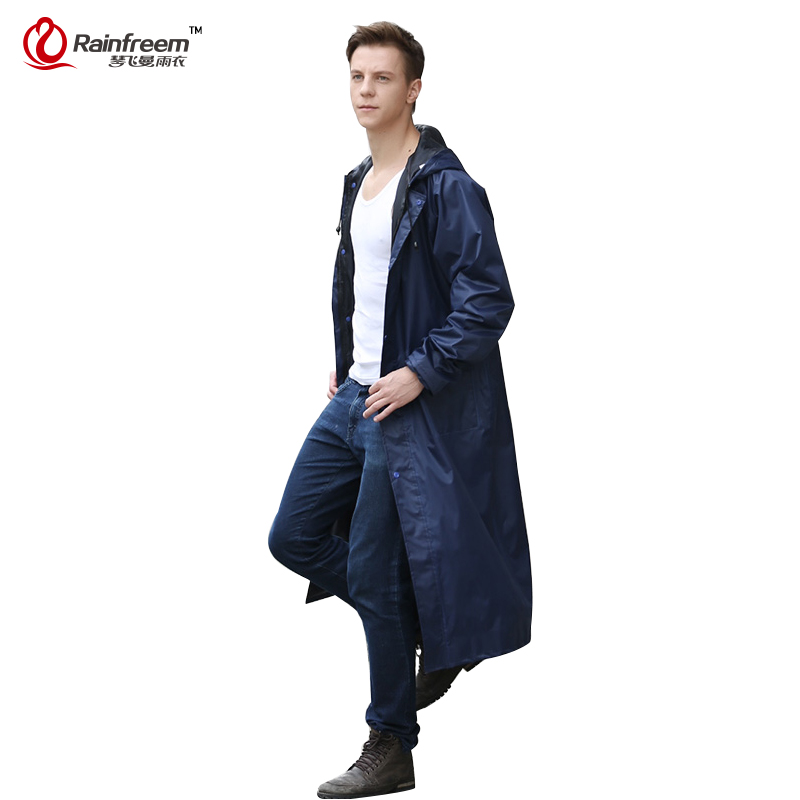 Rainfreem Impermeable Raincoat Women/<font><b>Men</b></font> Waterproof Trench Coat Poncho Double-layer Rain Coat Women Rainwear Rain Gear Poncho
