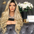 1b/613 Tow Tone Blonde Ombre Human Hair Wig Virgin Brazilian Lace Front Wig Loose Wave Glueless Full Lace Human Hair Wigs