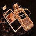 Luxury TPU Chain Crystal Diamond Perfume Bottle Case Cover For IPhone 7 7 Plus 6 6S 6 Plus 6S Plus Bling Rhinestone Fundas Coque