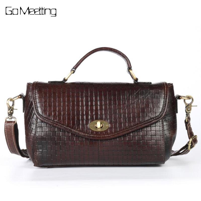 Genuine Leather Women Handbags Brand Real Cow Leather Female Shoulder Bag High Quality Crossbody Messenger Bags casual small bag fashionable women casual high quality crocodile embossed genuine leather small mini messenger bag