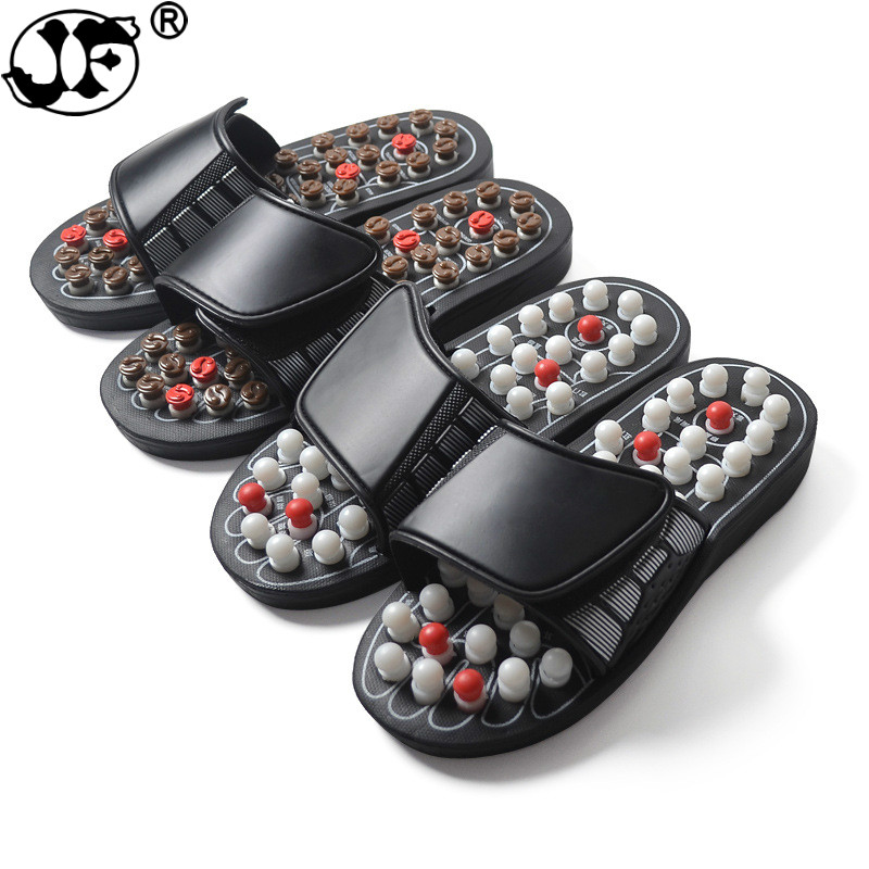 Acupoint Massage Slippers For Men Women Sandals Feet Chinese Acupressure Therapy Medical Rotating Foot Massager Shoes Unisex988
